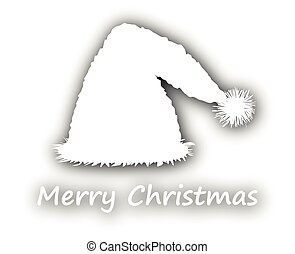 Merry Christmas with santa hat