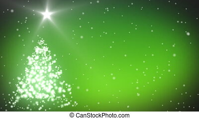 Merry Christmas with tree and stars