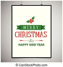 Merry Christmas with white frame