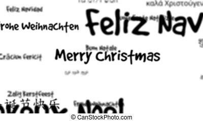 Merry Christmas words loop