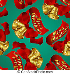 Merry Christmas wrapping paper - Seamless Merry Christmas...