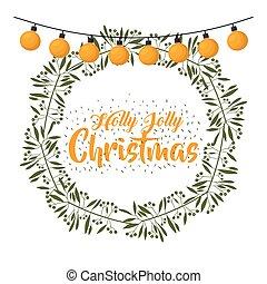 merry christmas wreath decoration