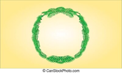 Merry Christmas wreath video - Animation of illustration...