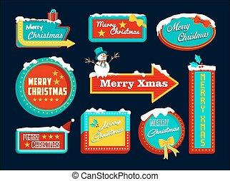 merry christmas, za, dát, firma, sněžit, sněhulák, vánoce