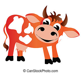 merry cow insulated - illustration merry cow insulated on...