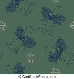 Merry Cristmast seamless pattern , hand draw sketch vector.