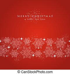 merry, elementer, sneflager, border., dekorationer, jul