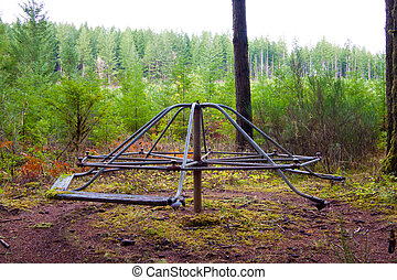 Merry Go Round - An abandoned merry-go-round in the forest...