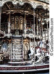 Merry go round in Paris ( HDR image )