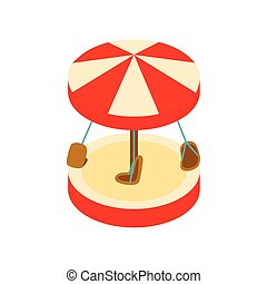 Merry-go-round isometric 3d icon