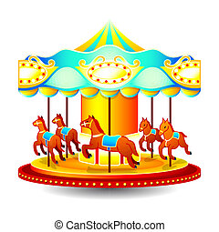 Merry-go-round - Small classic children merry-go-round with...