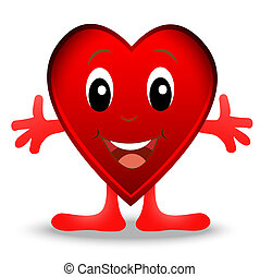 merry heart, postal to the day of saint Valentin, vector ...