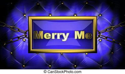 merry me on velvet background