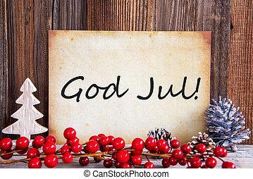 merry, tekst, avis, betyder, jul, dekoration, gud, jul