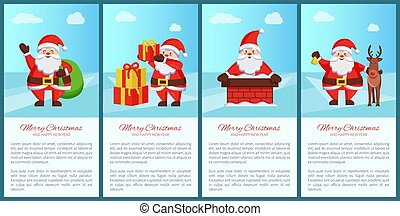 Merry Xmas and Happy New Year Posters Santa Claus - Merry...