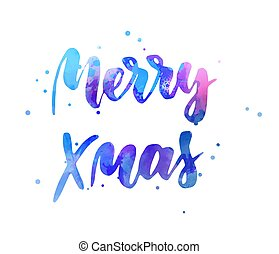 Merry Xmas holiday lettering