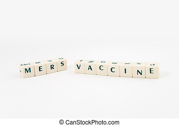 MERS vaccine white cube text