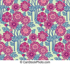 merygold flower seamless pattern. aster floral decorative...