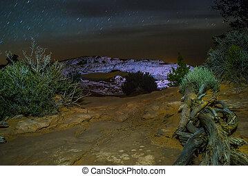 Mesa Arch at Night - Canyonlands Mesa Arch at Night - Moab...