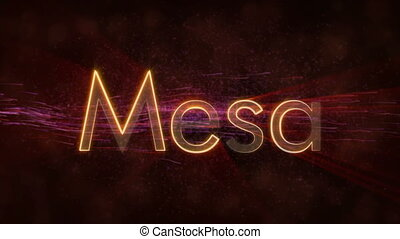 Mesa - Shiny looping city name text animation - Mesa -...