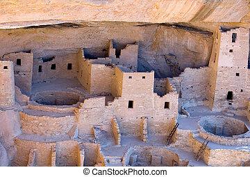 Mesa Verde Anasazi ruins - Cliff Palace ruins in Mesa Verde...
