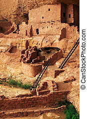 Mesa Verde - Ruins Stock Image - Located in the Southwest...