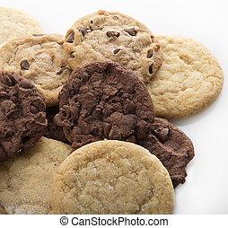 mescolato, biscotti, mucchio
