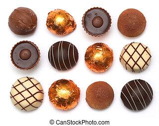 mescolato, cioccolati