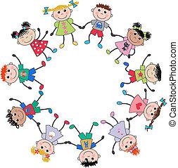 mescolato etnico, bambini