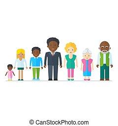 mescolato, famiglia nera
