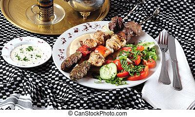 mescolato, kebab shish