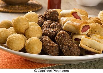 mescolato, snack., brasiliano