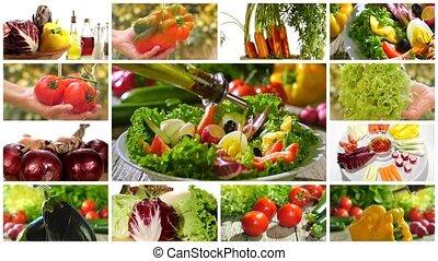mescolato, verdura, diverso, insalata