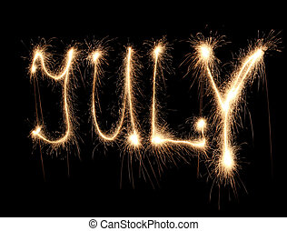 mese, luglio, sparkler