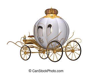 mese, tündér, királyi, kocsi