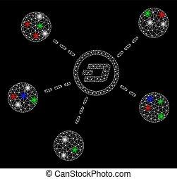 mesh, 2, knuse, klar, sammenhængee, glimt, pletter