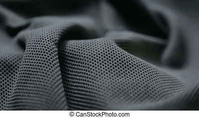 mesh cloth. black synthetic fabric