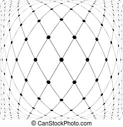Mesh diamonds 3D pattern. Abstract textured background....