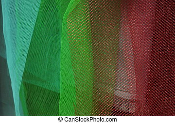 mesh fabric - hanging mesh fabric in different colors