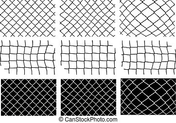 mesh fence vector set
