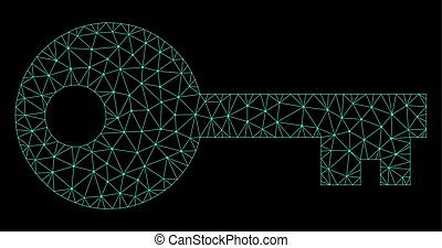 Mesh Key in Polygonal Wire Frame Vector Style