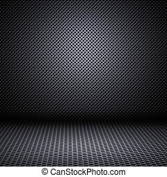 mesh, metal, reflektioner, baggrund