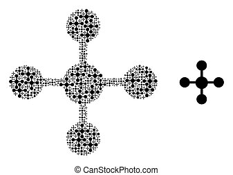 Mesh Node Composition of Self Items - Vector mesh node ...