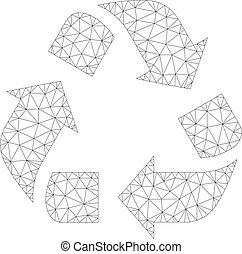 Mesh Vector Recycle Icon