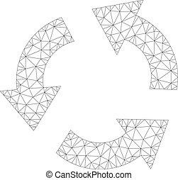 Mesh Vector Recycle Icon