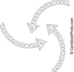 Mesh Vector Swirl Arrows Icon