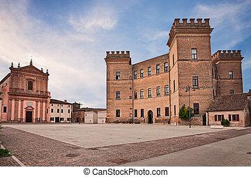 Mesola, Ferrara, Emilia-Romagna, Italy: church and castle in...