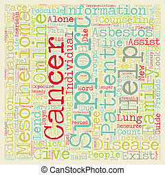 mesothelioma, sostegno, lei, ara, non, solo, testo, fondo, wordcloud, concetto