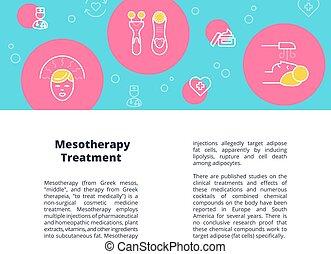 mesotherapy, iconen, vector, mal, circles., opmaak, geleide,...