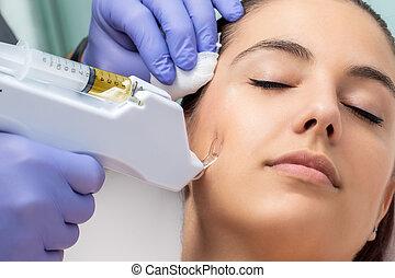 mesotherapy, micro, facial, needling.